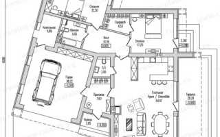 Дизайн одноэтажного дома с гаражом