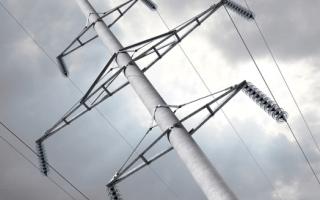 Бетонные столбы под электричество