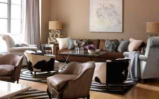Серо коричневый цвет в интерьере