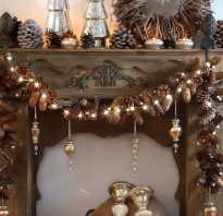 Декор из сосновых шишек