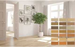 Серые двери и ламинат в интерьере