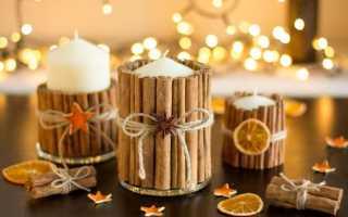 Декор свечей своими руками на новый год