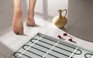 Как уложить теплый пол электрический под плитку
