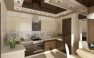 Натяжные потолки в кухню дизайн
