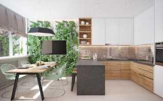 Акцентная стена на кухне у стола