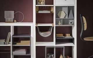 Декор полок шкафа