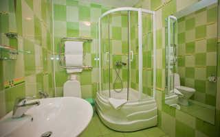 Интерьер совмещенной душевой кабины с туалетом