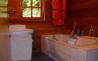 Кафельная плитка в деревянном доме