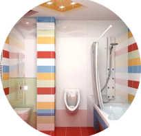 Дизайн ванной комнаты с санузлом