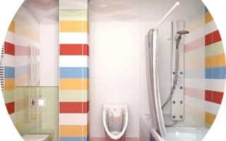 Дизайн для маленькой ванны с туалетом