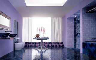 Какие шторы к фиолетовым обоям