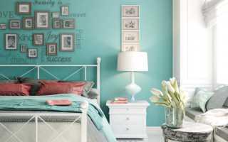 Бирюзовый дизайн комнаты