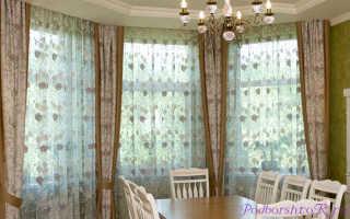 Дизайн штор на три окна