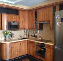 Красивый дизайн угловой кухни
