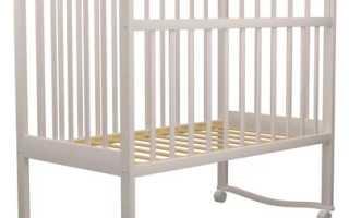 Детская кроватка для новорожденных из массива