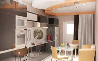 Дизайн кухни с диваном 10