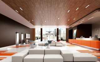 Красивый потолок из дерева