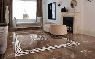 Керамическая плитка в зале