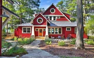 Дизайн покраски деревянного дома