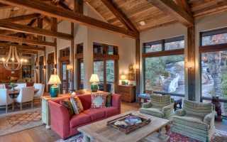 Красивые потолки из дерева