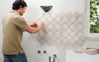 Облицовка стен керамической плиткой технология