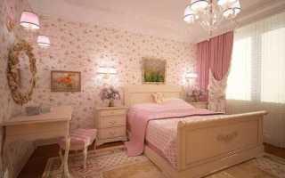 Какого цвета шторы к розовым обоям