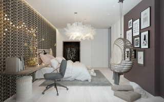 Дизайн с серыми стенами