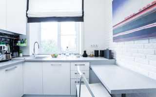 Как в маленькой кухне разместить мебель