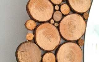 Спилы дерева для декора своими руками