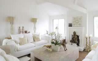 Дизайн комнаты в белом цвете