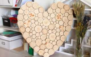 Картина из спилов дерева