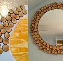 Декор круглого зеркала