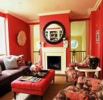 С какими цветами сочетается красный в интерьере
