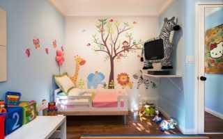 Отделка стен в детской