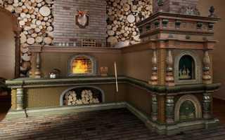 Декор печи в доме