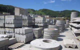 Изделия из бетона для строительства