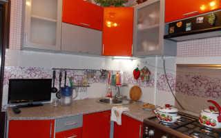 Сочетание с оранжевым цветом в интерьере кухни