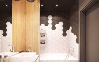 Туалет черно белый дизайн