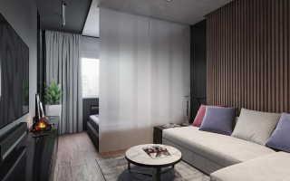 Дизайн однокомнатной квартиры 45 кв