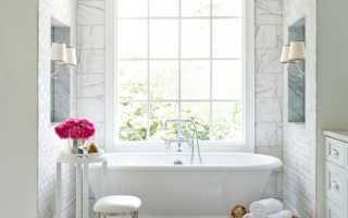 Декор пола в ванной