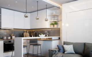 Маленькие кухни совмещенные с гостиной