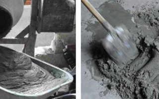 Соотношение бетонной смеси
