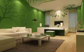С чем сочетать зеленый в интерьере