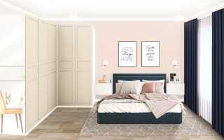 Декор стены в спальне над кроватью