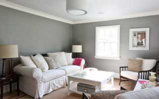 Мебель к светло серым обоям