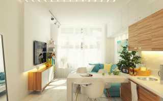 Кухня студия 20 кв м дизайн