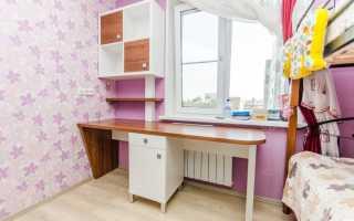 Детская с письменным столом у окна