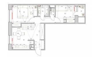 Двухкомнатная квартира с детской дизайн