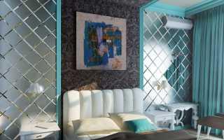Декор стен зеркальной плиткой