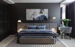 Спальня в темных тонах дизайн